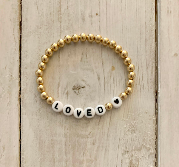 LOVED 💗 Gold Filled Ball Bracelets