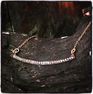 Natural Pave Diamond Bar Pendant