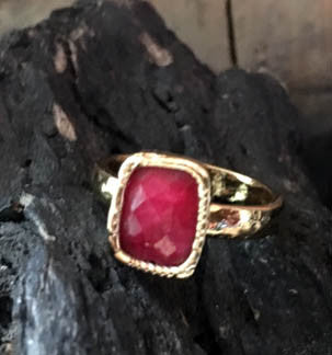 Small Red Ruby Ring