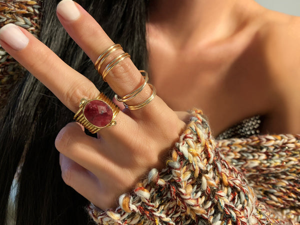 Ruby Wire Wrap Ring