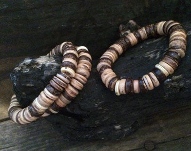 Sliced Wood Bracelet on Stretch Cord