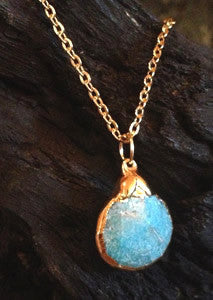 Small Turquoise on 24K Gold Overlay Chain