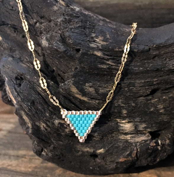 Seed Bead Triangle Pendants