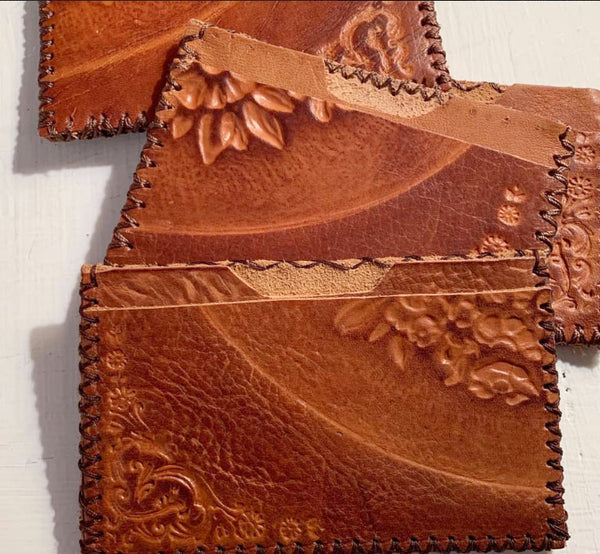 Hand-Stitched Recycled Italian Leather Wallets