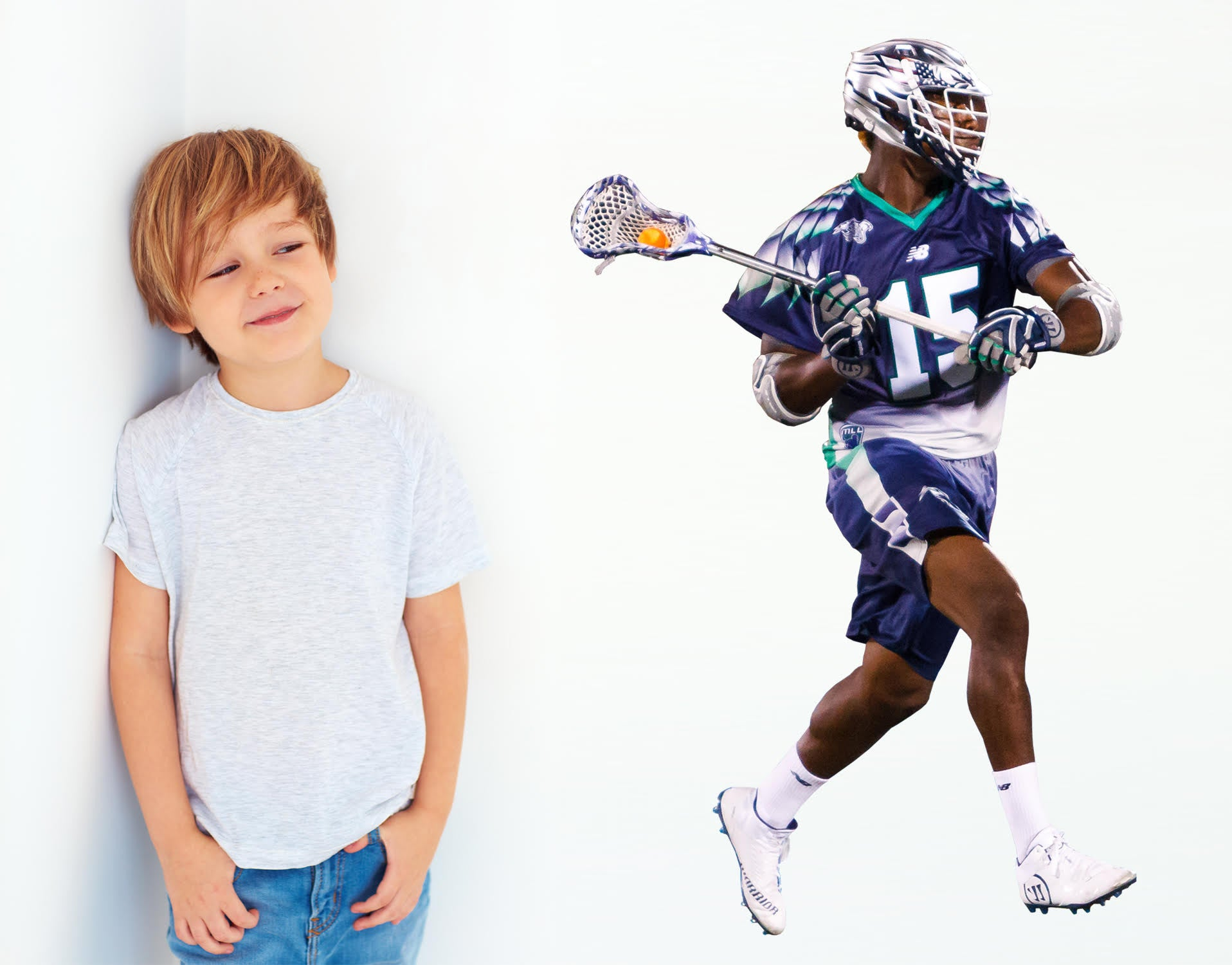 Chesapeake Bayhawks Myles Jones 3'4 high smaller life size wall decal