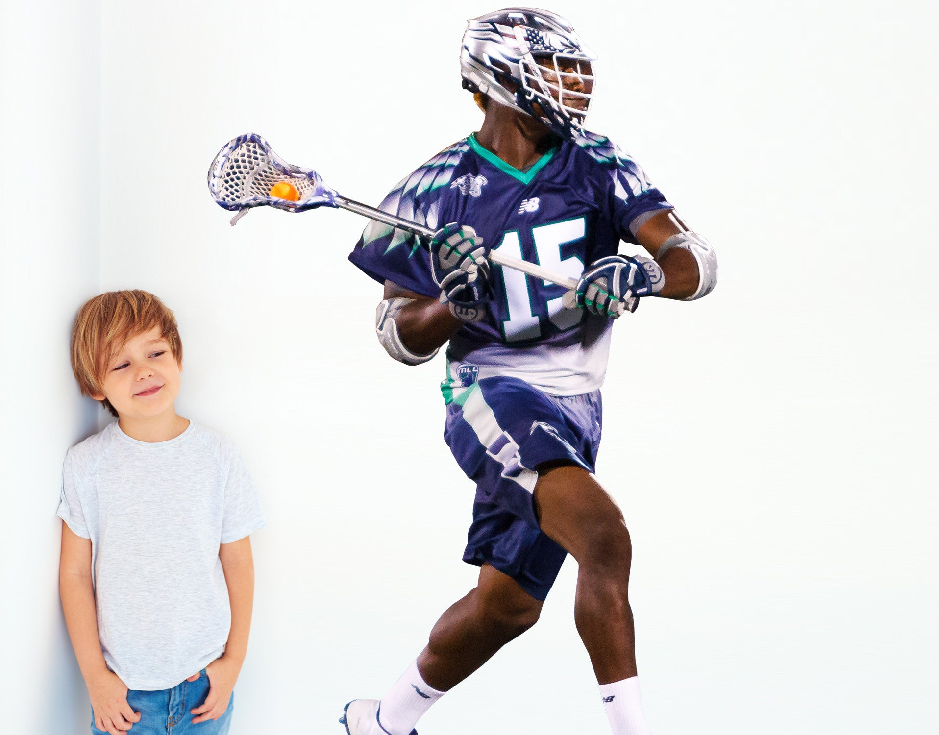 Chesapeake Bayhawks Myles Jones 6'4 life size wall decal