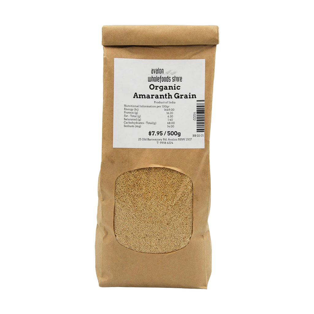 Amaranth Grain 500g - Avalon Wholefoods