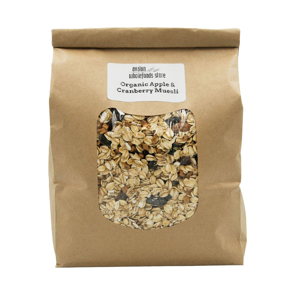 Apple & Cranberry Muesli 1kg - Avalon Wholefoods