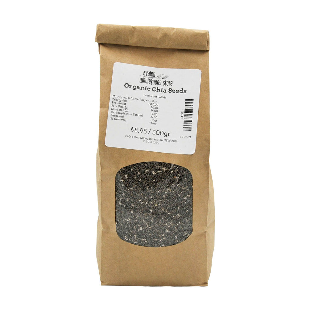 Chia Seeds Black 500g - Avalon Wholefoods Store