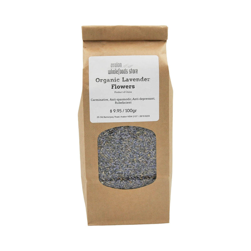 Lavender Flowers Tea 100g - Avalon Wholefoods