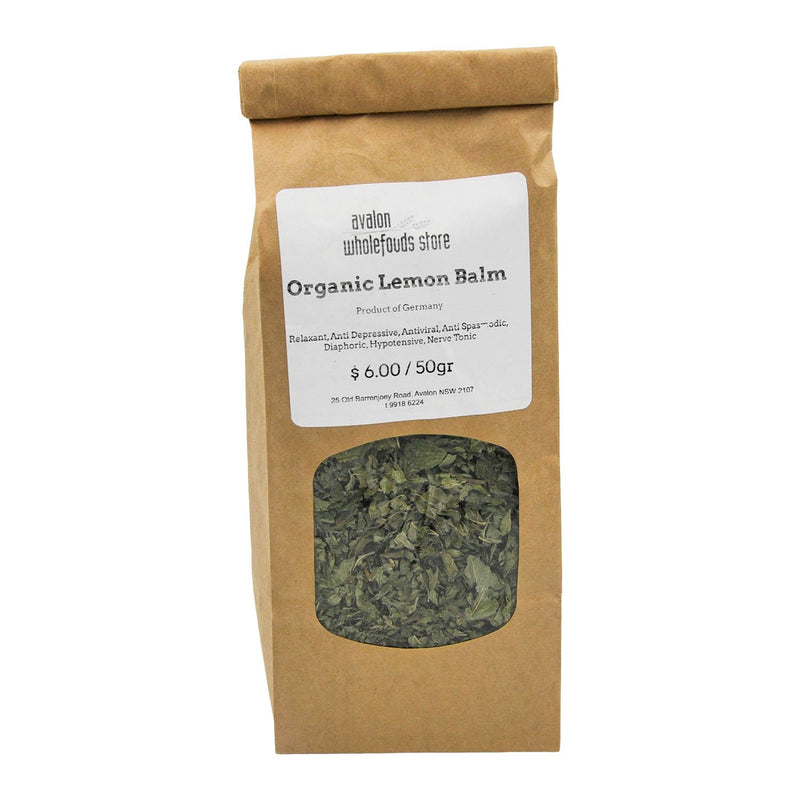 Lemon Balm 100g - Avalon Wholefoods