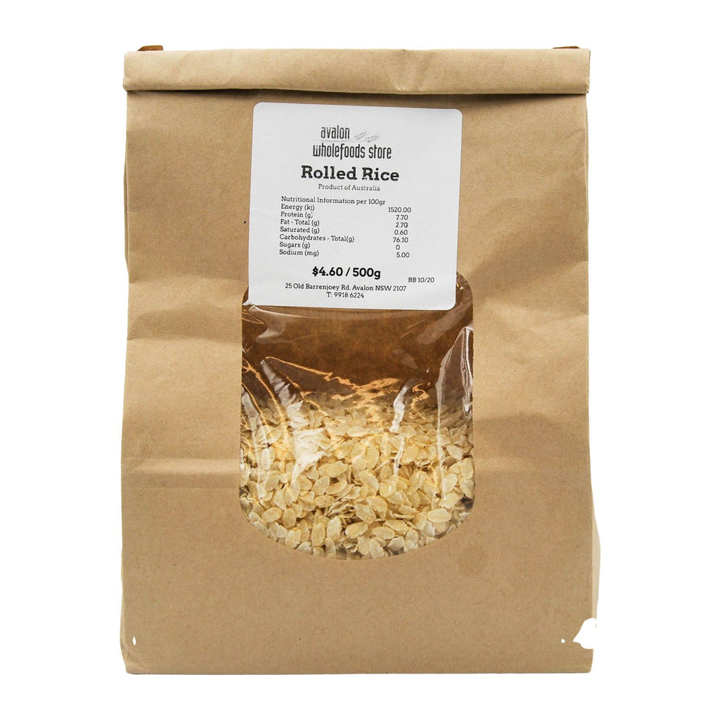 Rolled Rice 500g - Avalon Wholefoods Store