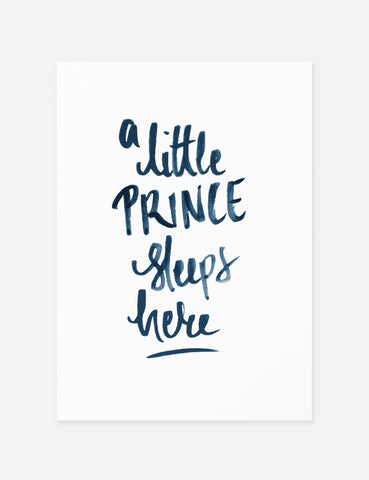 A Little Prince Nursery Print