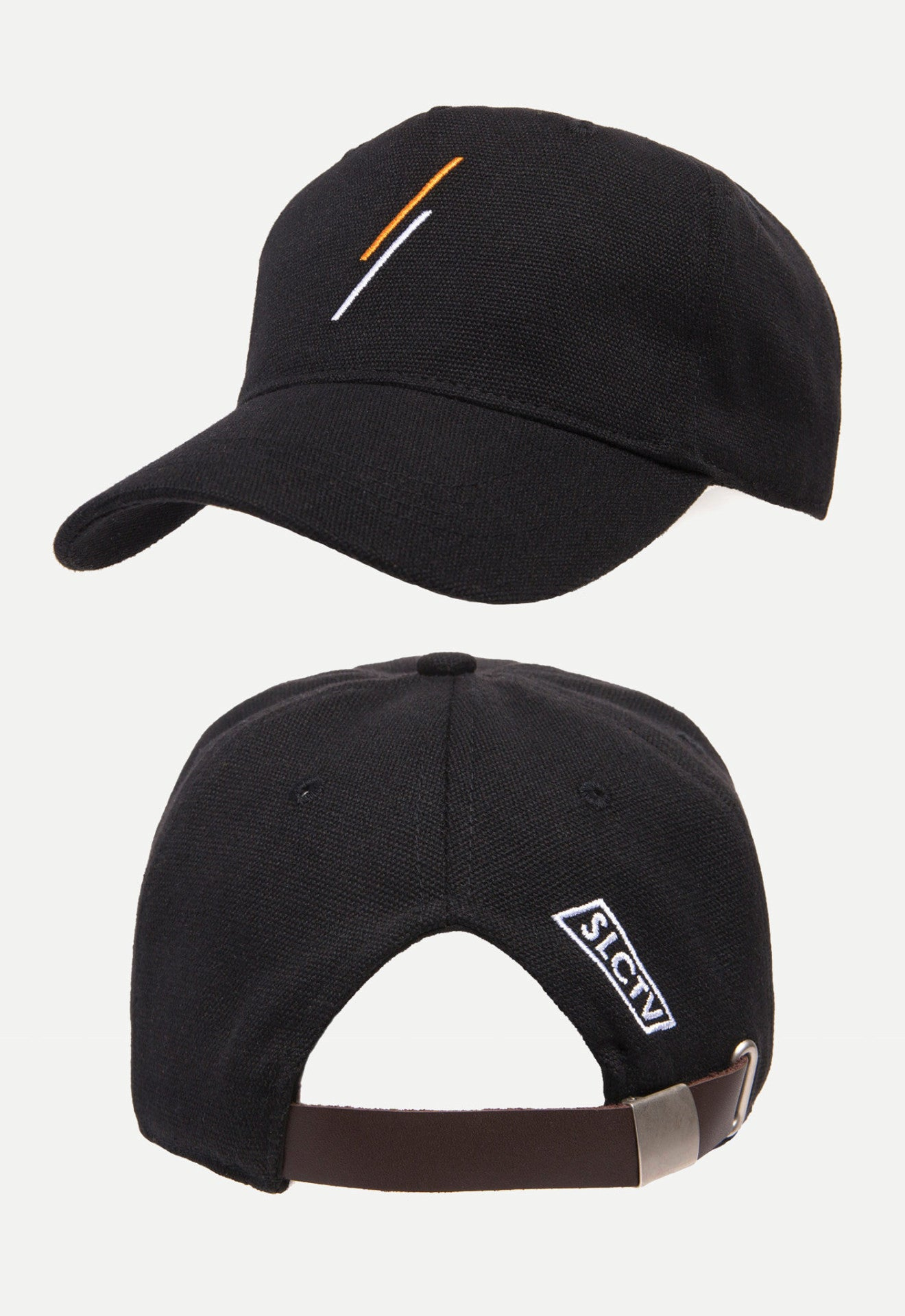 Triangle Strapback Cap (Ink Black)