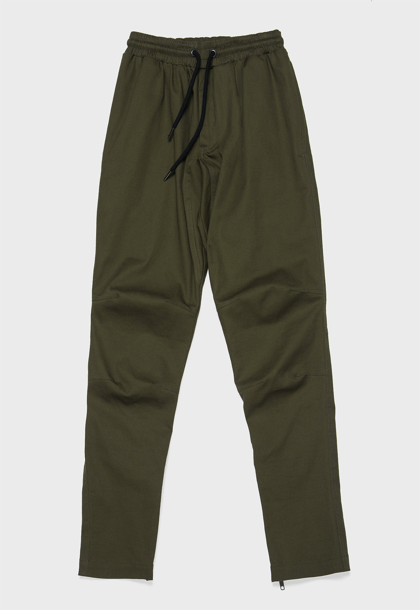 Darted Twill Ankle Zip Pants (Kombu Green) - SELECTIV