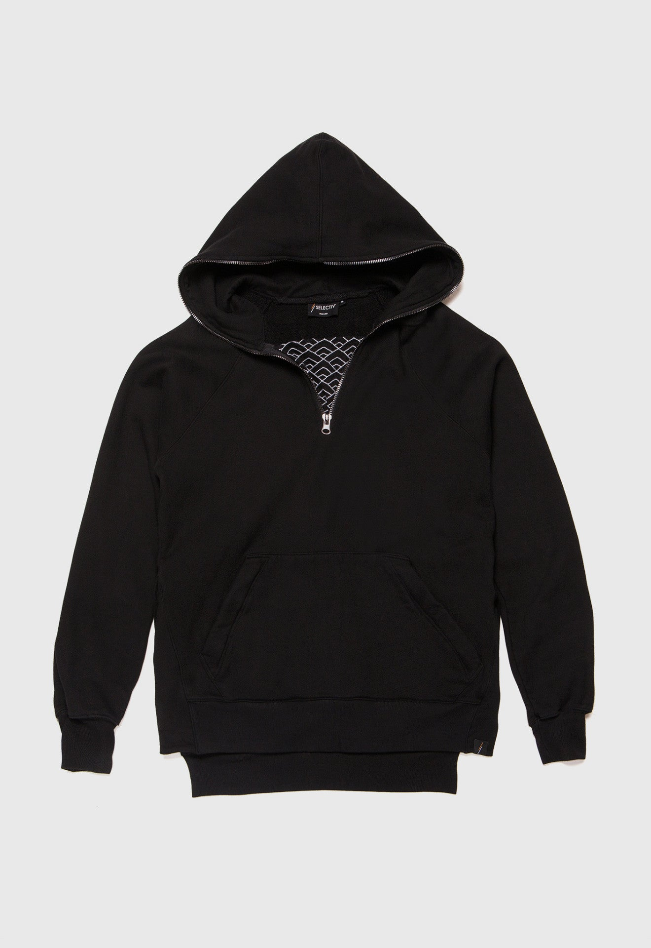 Diamond Waves Half-Zip Hoodie (Onyx)
