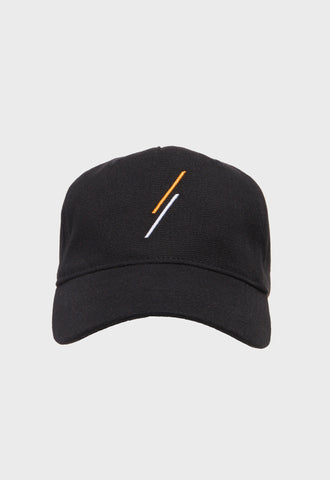 Triangle Strapback Cap (Ink Black) - SELECTIV