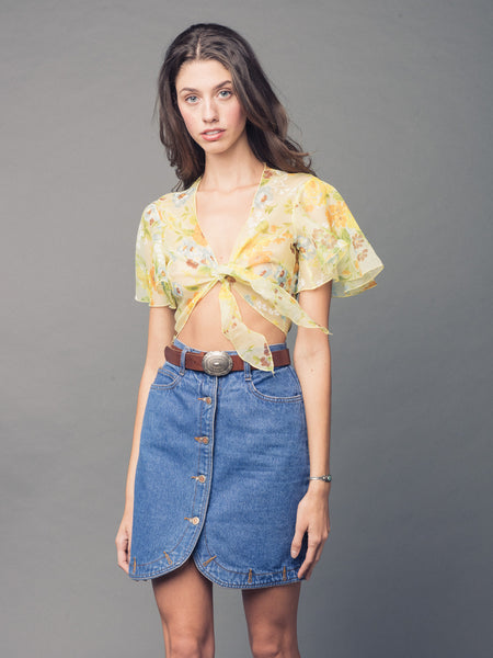 HANNA CASUAL DENIM SKIRT