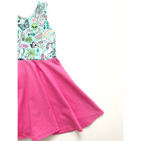Sticker Doodles Dress (25% OFF)