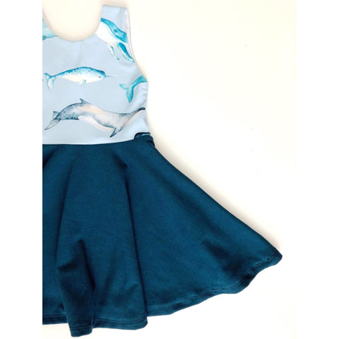 Oh Whale Dress (50% OFF)