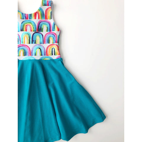 Watercolor Rainbows Dress (PREORDER)