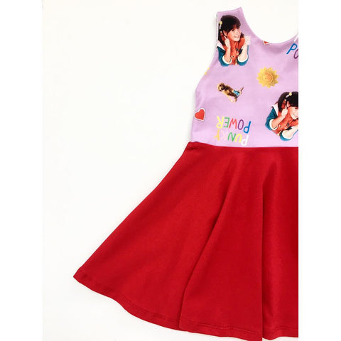 Punky Power Dress (Red)(PREORDER)
