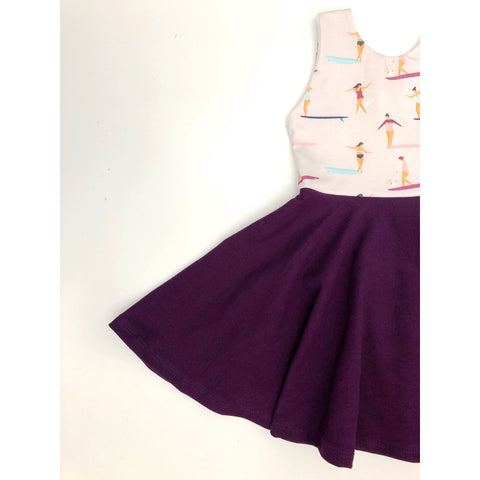 Teeny Wahine Dress (Eggplant)