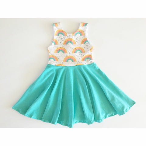 Pastel Rainbows Dress (40% OFF)