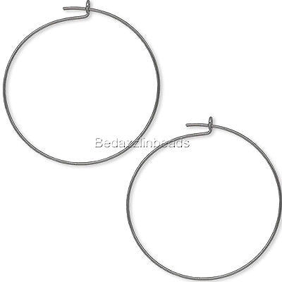 Plain 25mm Round Ring Hoop Wire Findings for Earrings & Wine Glass Charms~Sold Individually