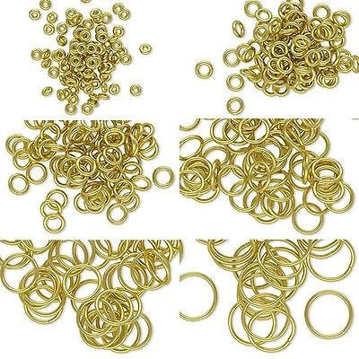 Shiny Raw Brass 18 Gauge 1.02mm Open Round Circle Jump Ring Findings~Sold Individually