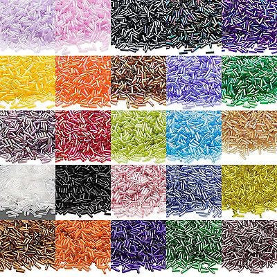 Economical 1/4 inch Long 6mm Glass Bugle Tube Seed Beads~Sold in 5 Gram Increments