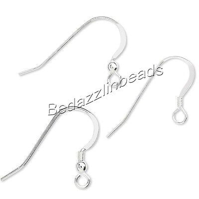 Flat Sterling Silver Fishhook Hook Earring Jewelry Findings With Open Loop~Sold Individually