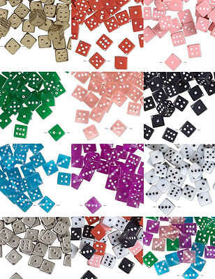 Plastic Acrylic 11mm Square Playing Dice Beads with Number Dots True to Life~Sold Individually