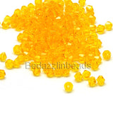 4mm Glass Double Cone Faceted Bicone Beads~Sold Individually