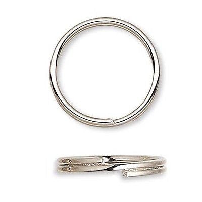 Steel Round Split Rings Small - Big Double Ring Keyring Findings~Sold Individually