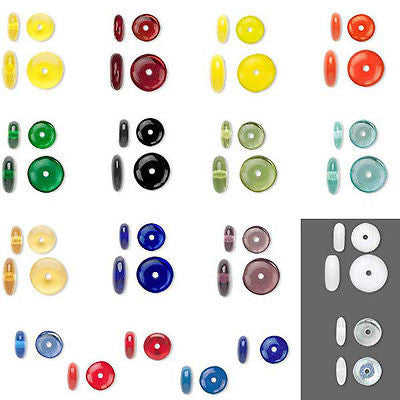 Flat Round Czech Glass Rondelle Spacer Disc Beads~Sold Individually