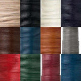 Round Genuine Goat Leather Bead Cord Cording Sold in 1 Foot Increments