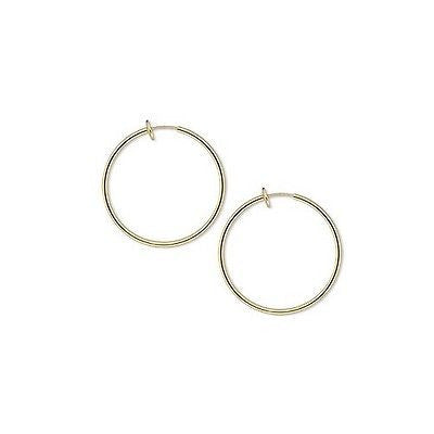 1 3/8 inch Clip on Hoop Earrings With Spring Closure for Pierced Look~Sold Individually