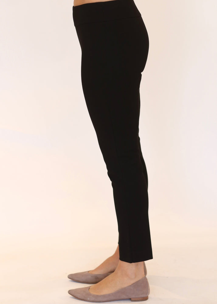 Wide Waist Ankle Pant | Black