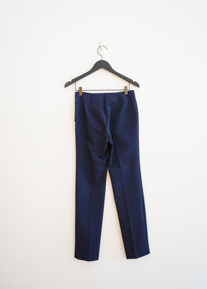 Navy Side Zip Long Pant