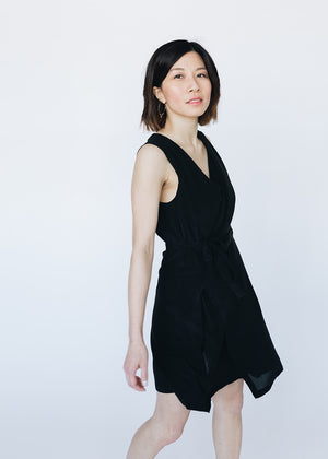 Black Silk Mini Dress