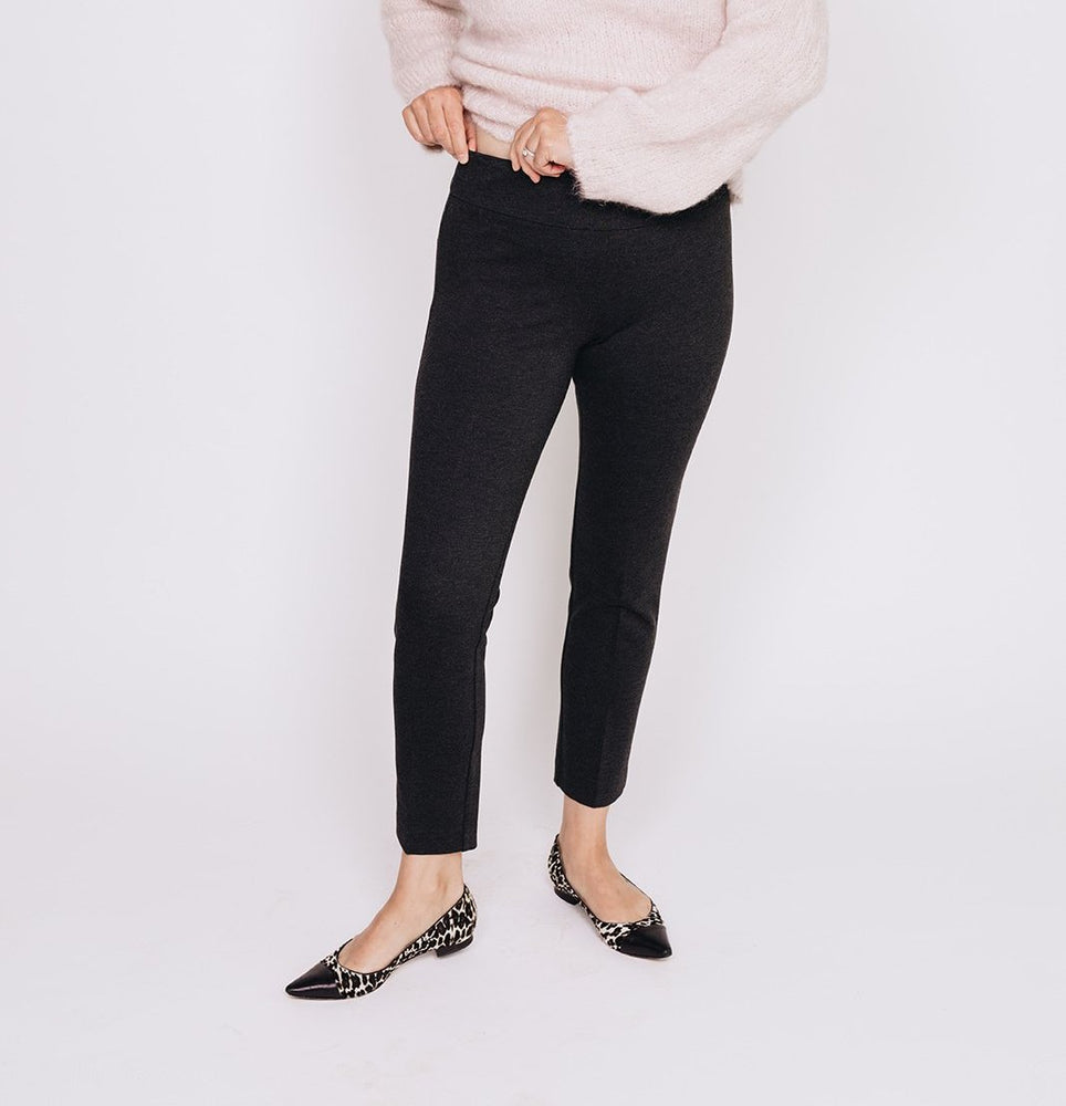 Wide Waist Ankle Pant