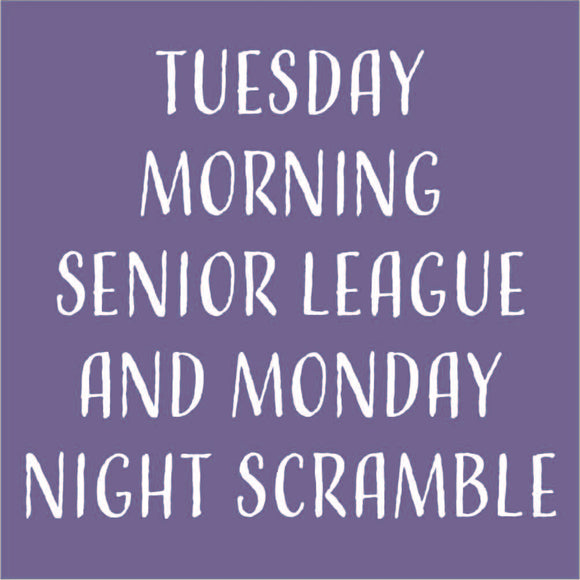 Leagues and Scrambles