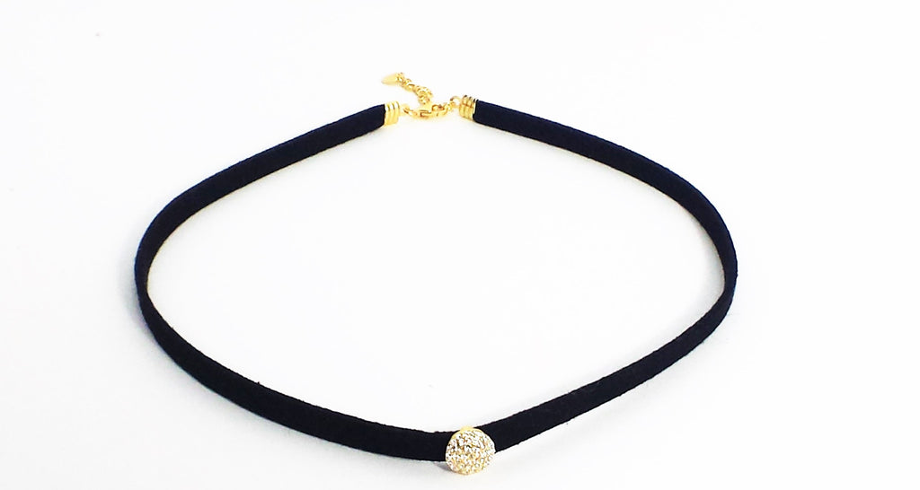 Sterling Silver Choker - gold color