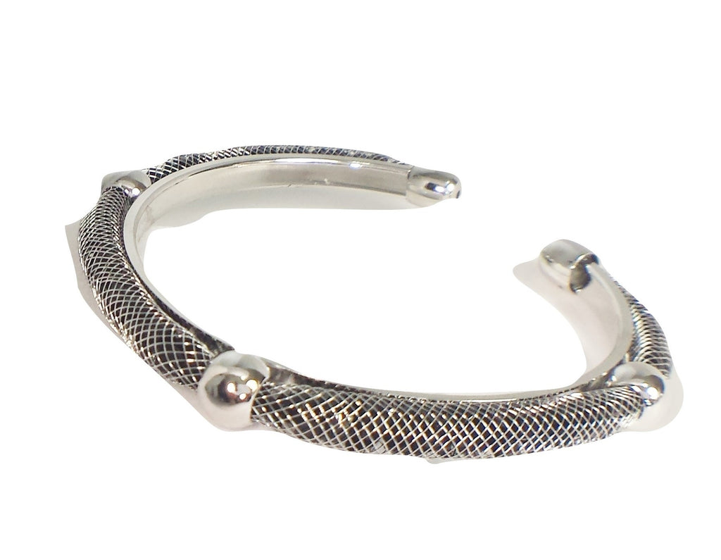 Rhodium Plated  fashion bracelet-black