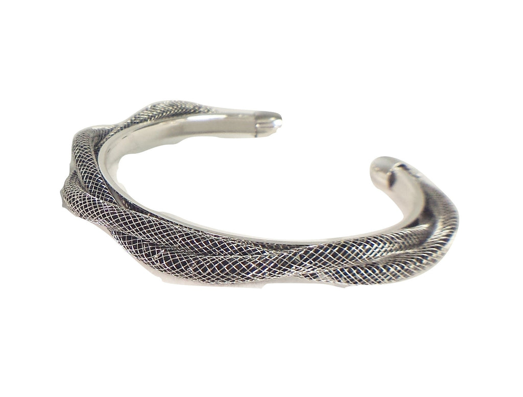 Rhodium Plated twisted fashion bracelet