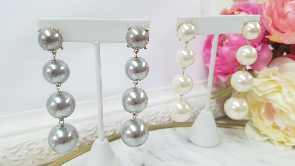 Fashion natural pearl drop earrings