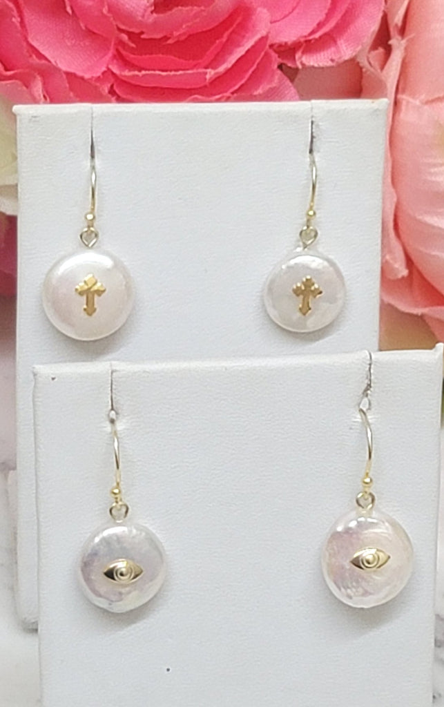 .925 Sterling silver and freshwater pearl earrings