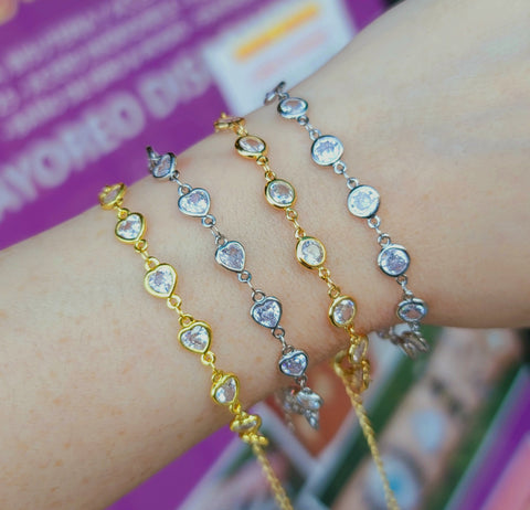 18k real gold plated and CZ bracelet