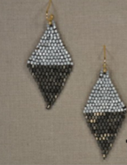 Diamond Shaped seed beads earring